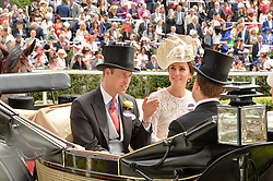 TRH The DUKE & DUCHESS OF CAMBRIDGE at day two of the Royal Ascot 2016 Racing Festival at Ascot Racecourse, Berkshire on 15th June 2016.