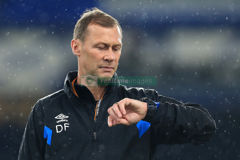 19th October 2017 - UEFA Europa League - Group E - Everton v Olympique Lyonnais - Everton assistant Duncan Ferguson looks at his watch - Photo: Simon Stacpoole / Offside.