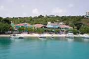 Waterside Village in Cruz Bay Harbor, St. John, U.S. Virgin Islands.