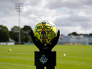 FODBOLD: Kampbolden er klar til kampen i ALKA Superligaen mellem FC Helsingør og FC Midtjylland den 6. august 2017 på Helsingør Stadion. Foto: Claus Birch