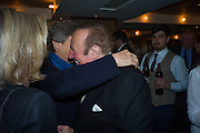 NIGEL HAVERS; ANDREW NEIL; Spectator Life - 3rd birthday party. Belgraves Hotel, 20 Chesham Place, London, SW1X 8HQ, 31 March 2015