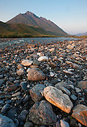 Gravel bar along the Marsh Fork of the Canning River, Brooks Range, Arctic National Wildlife Refuge, Alaska