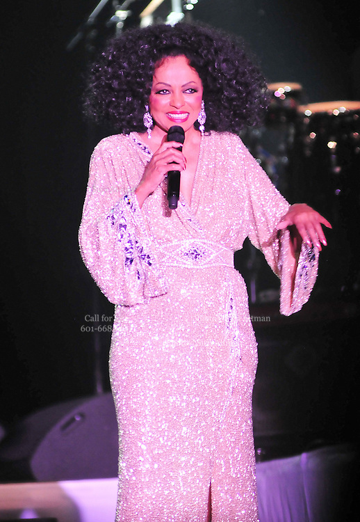 "Legendary singer, songwriter and performer Diana Ross brings down the house at her opening show of her 2011 ""More Than Yesterday"" North America Tour Friday  Feb. 25,2011 night in Philadelphia Mississippi at the  Pearl River Casino in their newly renovated 5000 seat ""Arena"". "" Miss Ross""  opened the show with "" I'm Coming OUt "" and continued to thrill for the next 90 minutes and 5 costume changes. Photo©Suzi Altman"