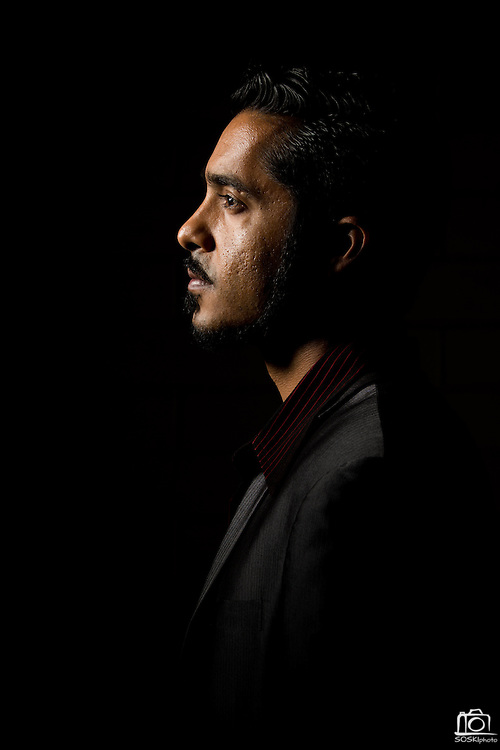 Campbell Jazz musician Aki Kumar poses for a portrait near Little Lou's BBQ in Campbell, California, on March 13, 2014. (Stan Olszewski/SOSKIphoto for Content Magazine)
