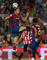 FC Barcelona's Zlatan Ibrahimovic during the Supercup of Spain.August 23 2009.
