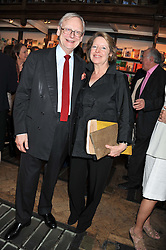LORD & LADY DEBEN at a party to celebrate the publication of Sandra Howard's new book - Ex-Wives held at Daunt Books, 83 Marylebone High Street, London W1 on 30th April 2012.