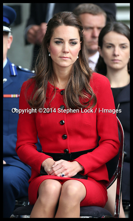 The Duchess of Cambridge  at a Maori welcome in Christchurch, New Zealand, Monday, 14th April 2014. Picture by Stephen Lock / i-Images