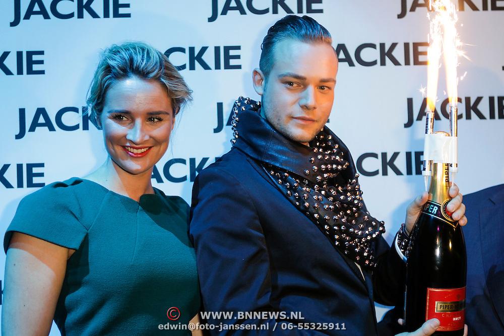 NLD/Amsterdam/20120614 - Uitreiking Jackie's Bachelor List 2012, Lieke van Lexmond en Raoul van der Heijden