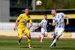 Nermin Hodzic of NK Domzale and Matic Marusko of NS Mura during Football match between NK Domzale and NS Mura in 30th Round of Prva liga Telekom Slovenije 2018/19, on May 1st, 2019, in Sports park Domzale, Slovenia. Photo by Grega Valancic / Sportida