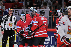 12.05.2013, Globe Arena, Stockholm, SWE, IIHF, Eishockey WM, Kanada vs Tschechische Republik, im Bild Canada Kanada 17 Wayne Simmonds gör 1-0 goal mål jubel glädje lycka glad happy // during the IIHF Icehockey World Championship Game between Canada and Czech Republic at the Ericsson Globe, Stockholm, Sweden on 2013/05/12. EXPA Pictures © 2013, PhotoCredit: EXPA/ PicAgency Skycam/ Simone Syversson..***** ATTENTION - OUT OF SWE *****