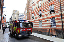 © Licensed to London News Pictures. 05/06/2018. London, UK. Emergency services attend the scene of a fire on Bourdon Street in Mayfair, central London. Photo credit: Rob Pinney/LNP