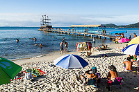Praia de Canasvieiras. Florianópolis, Santa Catarina, Brasil. / Canasvieiras Beach. Florianopolis, Santa Catarina, Brazil.