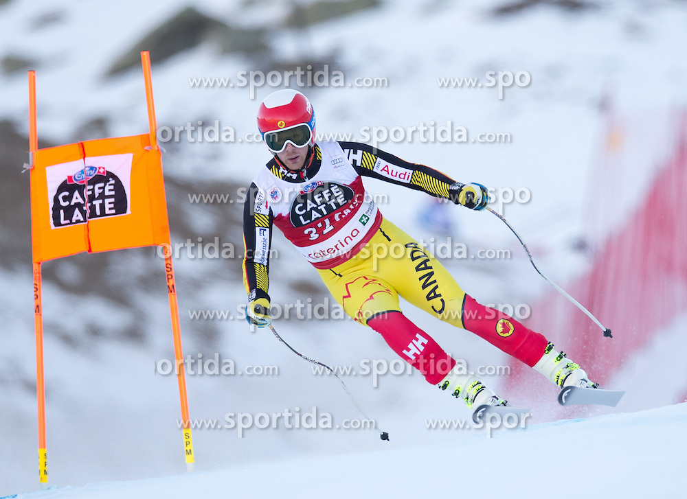 28.12.2015, Deborah Compagnoni Rennstrecke, Santa Caterina, ITA, FIS Ski Weltcup, Santa Caterina, Abfahrt, Herren, 2. Training, im Bild Tyler Werry (CAN) // Tyler Werry of Canada in action during the 2nd practice run of men's Downhill of the Santa Caterina FIS Ski Alpine World Cup at the Deborah Compagnoni Course in Santa Caterina, Italy on 2015/12/28. EXPA Pictures © 2015, PhotoCredit: EXPA/ Johann Groder