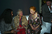 DORA SWIRE AND HER DAUGHTER VIVIENNE WESTWOOD, Unveiling of the Vivienne Westwood Opus. Hosted by Vivienne Westwood and Karl Fowler of Kraken Opus. Serpentine Gallery. London. 12 February 2008.  *** Local Caption *** -DO NOT ARCHIVE-© Copyright Photograph by Dafydd Jones. 248 Clapham Rd. London SW9 0PZ. Tel 0207 820 0771. www.dafjones.com.