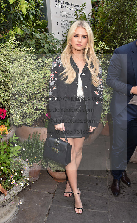 Lottie Moss at The Ivy Chelsea Garden's Annual Summer Garden Party, The Ivy Chelsea Garden, 197 King's Road, London England. 9 May 2017.<br /> Photo by Dominic O'Neill/SilverHub 0203 174 1069 sales@silverhubmedia.com