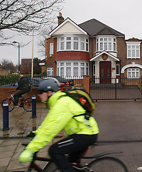 A cyclist goes past the North Korean embassy near Ealing, London, whilst a few miles away the Foreign Ministers of the G8 were meeting to discuss the situation with North Korean, Thursday   April 11, 2013. Photo by Max Nash / i-Images.