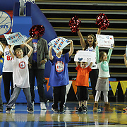 "Fans hold up signs the reads ""Welcome Sevens"" during a timeout in the first half of a NBA D-league regular season basketball game between the Delaware 87ers (76ers) and the Iowa Energy Tuesday, Jan 14, 2014 at The Bob Carpenter Sports Convocation Center, Newark, DE"
