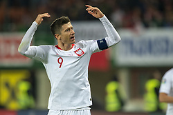 March 21, 2019 - Vienna, Austria - Robert Lewandowski of Poland celebrates during the UEFA European Qualifiers 2020 match between Austria and Poland at Ernst Happel Stadium in Vienna, Austria on March 21, 2019  (Credit Image: © Andrew Surma/NurPhoto via ZUMA Press)