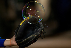 OAKLAND, CA - AUGUST 19:  Detailed view of bubble and a baseball glove belonging to Matt den Dekker #6 of the New York Mets during the seventh inning of an interleague game against the Oakland Athletics at O.co Coliseum on August 19, 2014 in Oakland, California. The Oakland Athletics defeated the New York Mets 6-2.  (Photo by Jason O. Watson/Getty Images) *** Local Caption *** Matt den Dekker