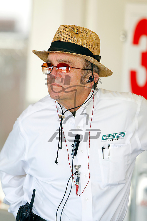 12 January, 2012:  Jack Roush watches his teams work on their cars during open testing for the NASCAR Sprint Cup Series at the Daytona International Speedway in Daytona Beach, FL.
