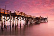 Sunset at the Balboa Pier Newport Beach, Orange County, California