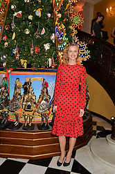 EVA HERZIGOVA at the Claridge's Christmas Tree By Dolce & Gabbana Launch Party held at Claridge's, Brook Street, London on 26th November 2013.
