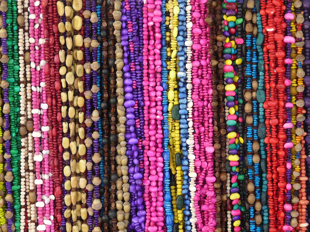 EN&gt; Colorful necklaces at the market in Oaxaca | <br /> SP&gt; Coloridos collares en el mercado de Oaxaca