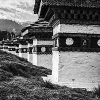 Stupas in Bhutan.