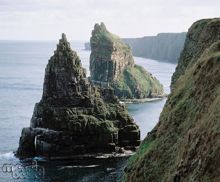 Sea stacks at coast
