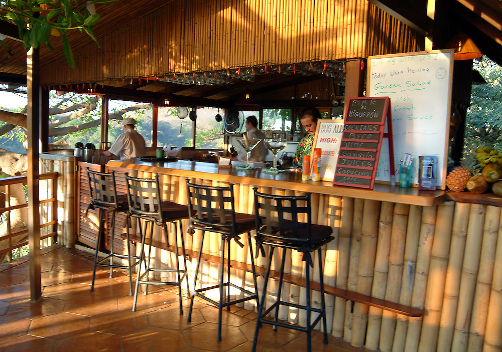 Hotel bar and restaurant in San Jose, Costa Rica