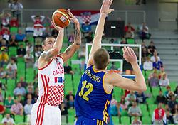 Damir Markota #12 of Croatia during basketball match between National teams of Croatia and Ukraine in Quarterfinals at Day 16 of Eurobasket 2013 on September 19, 2013 in Arena Stozice, Ljubljana, Slovenia. (Photo by Vid Ponikvar / Sportida.com)