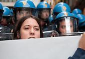 Protests against Mr Draghi