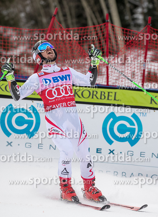 03.12.2017, Beaver Creek, USA, FIS Weltcup Ski Alpin, Beaver Creek, Riesenslalom, Herren, 2. Lauf, im Bild Marcel Hirscher (AUT, 1. Platz) // race winner Marcel Hirscher of Austria reacts after his 2nd run of men's Giant Slalom of FIS ski alpine world cup in Beaver Creek, United Staates on 2017/12/03. EXPA Pictures © 2017, PhotoCredit: EXPA/ Johann Groder