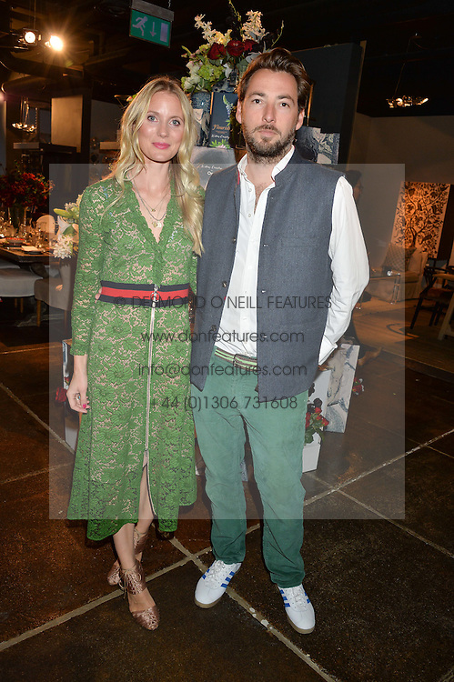 WILLOW CROSSLEY and her husband CHARLIE CROSSLEY at a party to celebrate the publication of Flourish by Willow Crossley held at OKA, 155-167 Fulham Rd, London on 4th October 2016.
