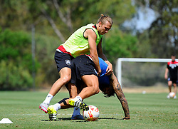 Luke Freeman of Bristol City battles for the ball with Marlon Pack of Bristol City  - Photo mandatory by-line: Joe Meredith/JMP - Mobile: 07966 386802 - 17/07/2015 - SPORT - Football - Albufeira -  - Pre-Season Training