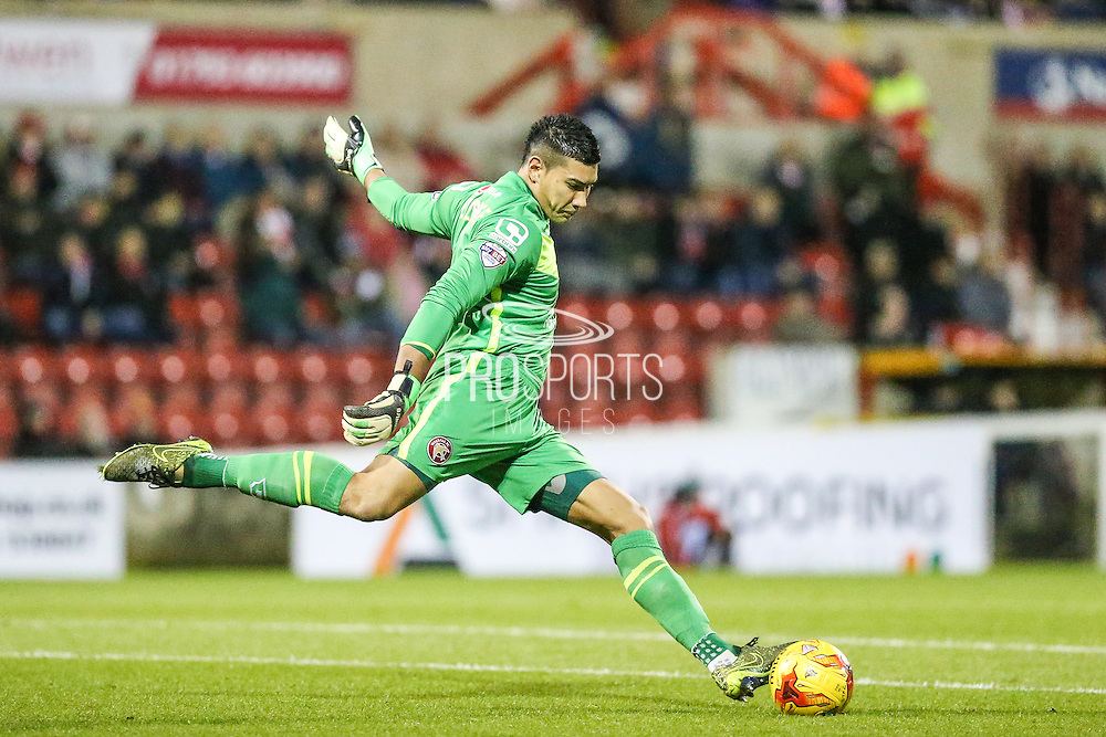 Walsall's Neil Etheridge during the Sky Bet League 1 match between Swindon Town and Walsall at the County Ground, Swindon, England on 24 November 2015. Photo by Shane Healey.