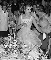 PRINCESS GRACE OF MONACO arrive at the Bal de La Mer, Monte Carlo, Monaco in 1958.