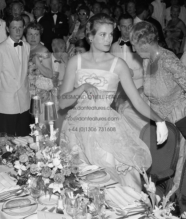 PRINCESS GRACE OF MONACO arrive at the Bal de La Mer, Monte Carlo, Monaco in 1958.