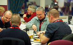 SWANSEA, WALES - Tuesday, March 26, 2013: Wales supporters enjoying the hospitality before the 2014 FIFA World Cup Brazil Qualifying Group A match against Croatia at the Liberty Stadium. (Pic by David Rawcliffe/Propaganda)
