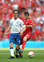 Scott Parker of England in action with Tranquillo Barnetta of Switzerland, England v Switzerland, EURO 2012 Qualifying Group G  4/6/2011<br />