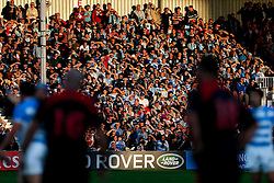 Supporters look on in the setting sun - Mandatory byline: Rogan Thomson/JMP - 07966 386802 - 25/09/2015 - RUGBY UNION - Kingsholm Stadium - Gloucester, England - Argentina v Georgia - Rugby World Cup 2015 Pool C.