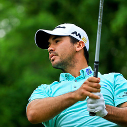May 2, 2016; Avondale, LA, USA; Jason Day tees off on the 10th hole during the continuation of the third round of the 2016 Zurich Classic of New Orleans at TPC Louisiana. The tournament has been shortened to 54 holes due to weather delays throughout the week. Mandatory Credit: Derick E. Hingle-USA TODAY Sports