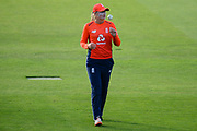 Sophie Ecclestone of England who finished with figures of 4-18 off four overs and awarded player of the match during the International T20 match between England Women and New Zealand Women at the Cooper Associates County Ground, Taunton, United Kingdom on 23 June 2018. Picture by Dave Vokes.