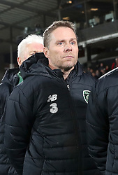 Republic of Ireland assistant coach Steve Guppy during the UEFA Nations League, Group B4 match at Ceres Park, Aarhus. PRESS ASSOCIATION Photo. Picture date: Monday November 19, 2018. See PA story SOCCER Denmark. Photo credit should read: Simon Cooper/PA Wire. RESTRICTIONS: Editorial use only. No commercial use.