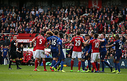 19.03.2017, Riverside Stadium, Middlesbrough, ENG, Premier League, FC Middlesbrough vs Manchester United, 29. Runde, im Bild A second half incident involving players from both teams // A second half incident involving players from both teams during the English Premier League 29th round match between FC Middlesbrough and Manchester United at the Riverside Stadium in Middlesbrough, Great Britain on 2017/03/19. EXPA Pictures © 2017, PhotoCredit: EXPA/ Focus Images/ Christopher Booth<br /> <br /> *****ATTENTION - for AUT, GER, FRA, ITA, SUI, POL, CRO, SLO only*****