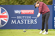 Tommy Fleetwood of England tees off from the 6th during the British Masters 2018 at Walton Heath Golf Course, Walton On the Hill, Surrey  on 11 October 2018. Picture by Martin Cole.