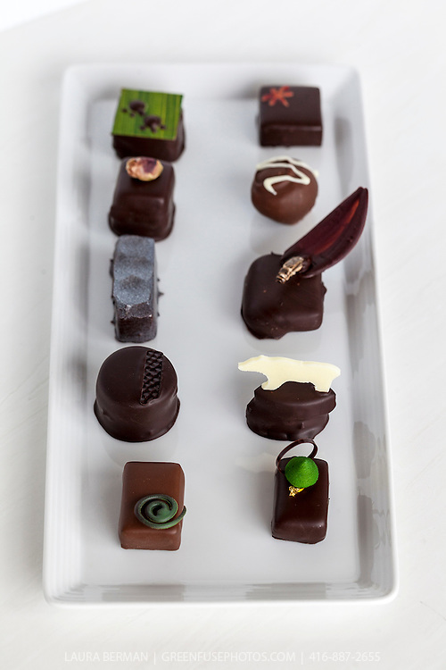 Hand-dipped Bons bons at the Canadian Intercollegiate Chocolate Competition  April 13- 14, 2013.