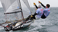ENGLAND, Falmouth, Restronguet Sailing Club, 8th September 2009, International 14 Prince of Wales Cup Week, GBR1530 Rob Greenhalgh and Simon Marks