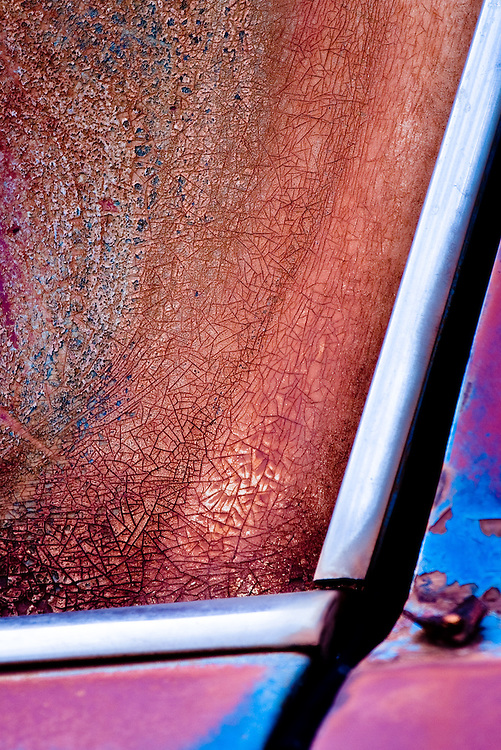 An evergrowing series of images of a personal &quot;Project by Opportunity&quot;, called Landscapes of a Joyride.<br /> Travelling around Central Australia we are confronted by car body after car body, in all states of decay.<br /> I began seeing links between the landscape they were in and the patterns of rust and paint that covers the wrecks.<br /> This extended into aerial views of the country wher some of the images are amazingly similar in terms of pattern and texture.<br /> Then to take it a step further, i see linkages between this series, the aerials and some Aboriginal art.<br /> My dream is a collaboration between a first nation artist and myself which will pull all this together.