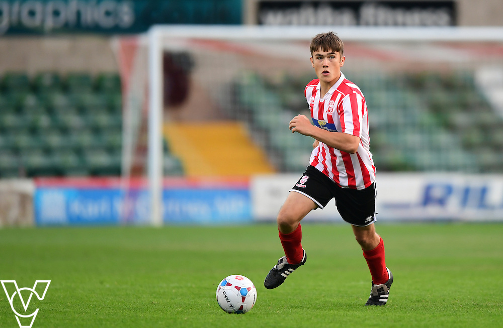 Lincoln City&rsquo;s Keilen Gretton<br /> <br /> Lincoln City under 18s Vs Leicester City under 18s at Sincil Bank, Lincoln.<br /> <br /> Picture: Chris Vaughan/Chris Vaughan Photography<br /> <br /> Date: July 28, 2016